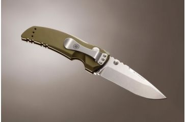 Hogue EX-01 3.5in Tactical Folder Drop Point Blade Tumble Finish Alum Frame - Matte OD Green 34171