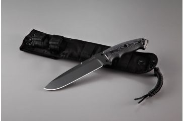 Hogue EX-F01 7in Fixed Drop Point Blade A-2 Black Kote G-10 Scales - G-Mascus Black 35159