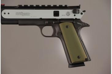Hogue Govt. Model 3/16 Thin Aluminum - Matte Green Anodized 01461
