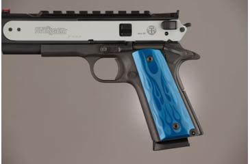 Hogue Govt. Model 3/16 Thin Flames Aluminum - Blue Anodized 01433