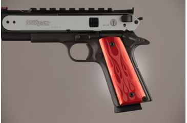 Hogue Govt. Model 3/16 Thin Flames Aluminum - Red Anodized 01432
