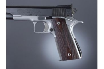 Hogue Govt. Model Rosewood S&A Mag.-Well Checkered 45971