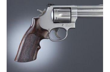 1-Hogue Ruger GP100/Super Redhawk Handgun Grip Rosewood Top Finger Groove Checkered 80951