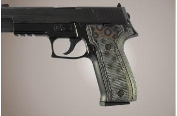 Hogue SIG Sauer P226 DAK Checkered G-10 - G-Mascus Black/Gray 26157-BLKGRY