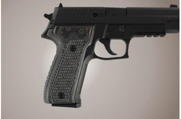 Hogue SIG Sauer P226 Piranha Grip G-10 - G-Mascus Black/Gray 26137-BLKGRY