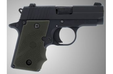 Hogue SIG Sauer P238 Rubber Grip with Finger Grooves OD Green 38001