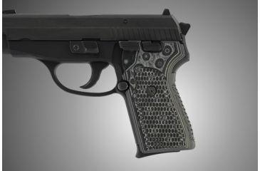 Hogue SIG Sauer P239 Piranha Grip G-10 - G-Mascus Black/Gray 31137-BLKGRY