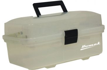 Homak 13in Plastic Transparent Hand Carry Toolbox w/ 2 Inner Trays TP00113067