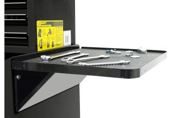 Homak 27in Professional Side Folding Shelf - Black BK08032601