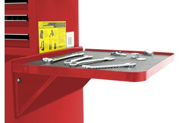 Homak 27in Professional Side Folding Shelf - Red RD08032601
