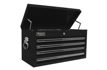 Homak 27in Professional Top Chest w/ 4 Drawers, Black BK02042601