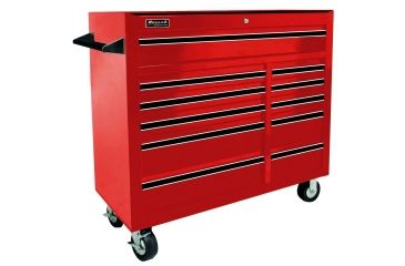 Homak 41in Pro Series Rolling Cabinet w/ 11 Drawers, Red RD04011410