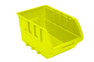 Homak Single Large Plastic Individual Bin, Yellow w/ no Logo HA01001595