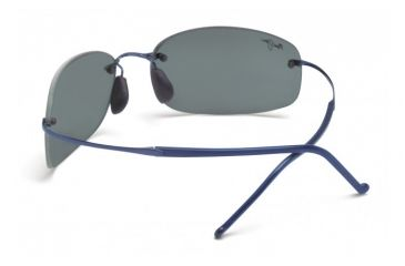Maui Jim Honolua Bay Sunglasses w/ Blue Frame and Neutral Grey Lenses - 516-03, Back View