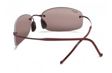 Maui Jim Honolua Bay Sunglasses w/ Burgundy Frame and Maui Rose Lenses - R516-07, Back View