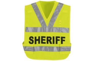 Horace Small Breakaway Hi-Vis Safety Vest, Safety Yellow, Sheriff, RG4XL HS3338RG4XL