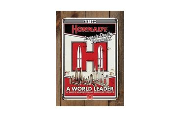 Hornady Vintage Tin Sign, Red/Bl/White, small 099101