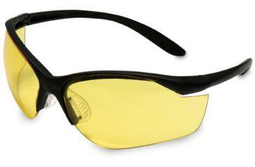 Howard Leight Vapor 2 Light Weight Protective Eyeglasses Black Frame / Amber Lens