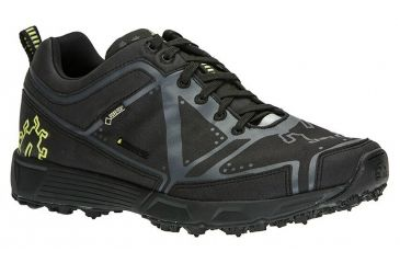 Icebug DTS2 GTX BUGrip Trail Running Shoe - Mens-Black/Charcoal-Medium-
