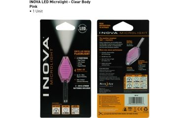 Inova Clear/Pink Body Base White LED Keychain Light CBP-W