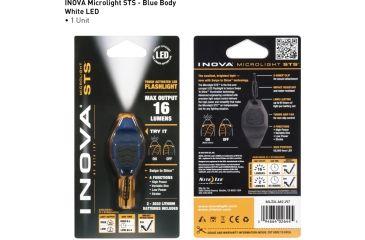 Inova Microlight Swipe To Shine Key Light - Blue/Black MLSA-M2-R7