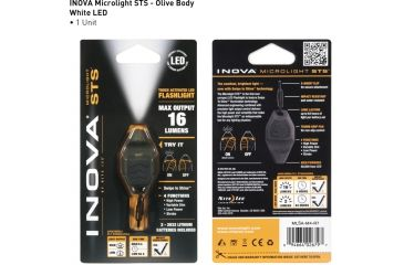 Inova Microlight Swipe To Shine Key Light - Olive/Black MLSA-M4-R7