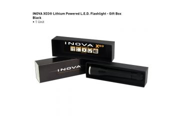 Inova XO3 LED Flashlight, Black, Dual Mode, Gift Box XO3DM-GB