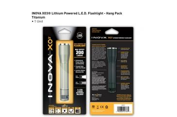 Inova XO3 LED Flashlight, Titanium, Dual Mode, Gift Box XO3DM-GT