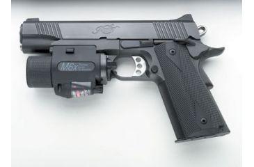 Insight Technology M-6X Tactical Laser Illuminator Laser-Flashlight Mounted on Kimber Pistol