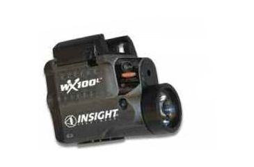 Insight Technology Flashlight WX 100L- compact, Rail-mounted, laser, LED, Black WM2-LBRXU-VC01