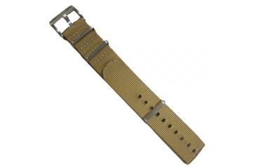 ISOBrite Nylon Watch Band, Tan, Silver Buckle, Small INB100-T
