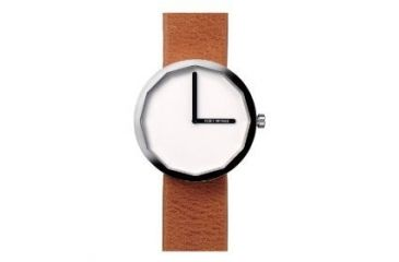 Issey Miyake SILAp013 Twelve Mens Watch - Tan Leather Band, Silver Case