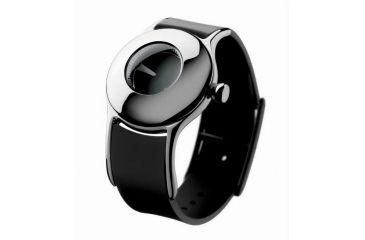Issey Miyake SILAr002 Ovo Watch - Black Band, Silver Case