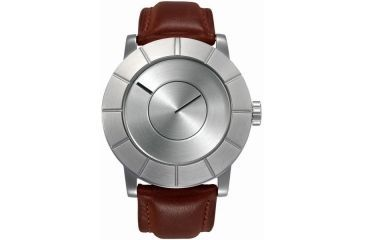 Issey Miyake SILAs003 To: Automatic Mens Watch - Tan Leather Band, Silver Case