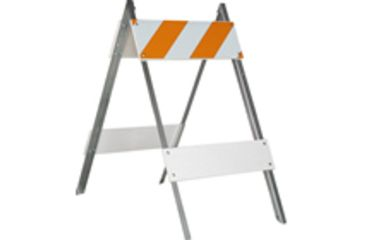 Jackson Safety Hi Intensity Type I Barricade, 24 X 8 X 6, Plastic, Hi Intensity 17564
