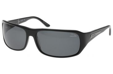 Jaguar 37102 Progressive Black Frame, Grey Polarized Lenses Mens Sunglasses 37102-6100PROG