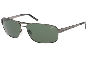 Jaguar 37320 Single Vision Gunmetal Frame,Green Polarized Lenses Mens Sunglasses 37320-420RX