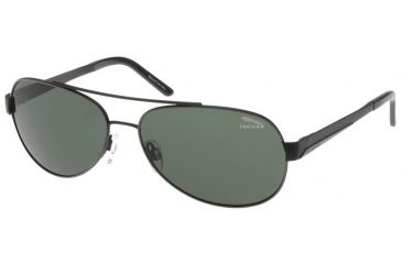Jaguar 37322 Single Vision Black Frame,Green Polarized Lenses Mens Sunglasses 37322-610RX