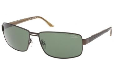 Jaguar 37324 Single Vision Brown-Caramel Frame,Green Polarized Lenses Mens Sunglasses 37324-602RX