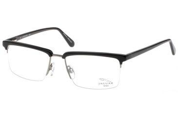 Jaguar 39202 Single Vision Black-Silver Mens Eyeglasses 39202-650RX