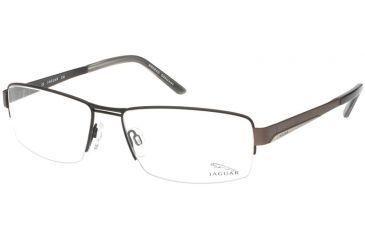 Jaguar 39332 Black-Chocolate-Silver Mens Eyeglasses 39332-649