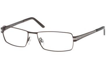 Jaguar 39334 Single Vision Mat Black-Silver Mens Eyeglasses 39334-610RX