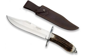 Joker Knives Bowie Knife Stag Horn 7.8in. Blade, 13.65in. Length CC100USA