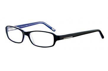 JOOP! 81059 Single Vision Prescription Eyeglasses - Black Frame and Clear Lens 81059-6368SV