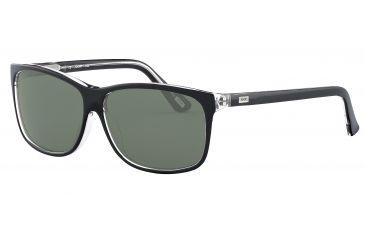 JOOP! 87145 Progressive Prescription Sunglasses - Black Frame and Grey Green Lens 87145-8738PR