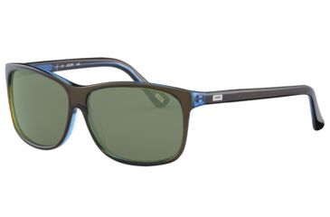 JOOP! 87145 Single Vision Prescription Sunglasses - Brown Frame and Green Silver  Lens 87145-6127SV