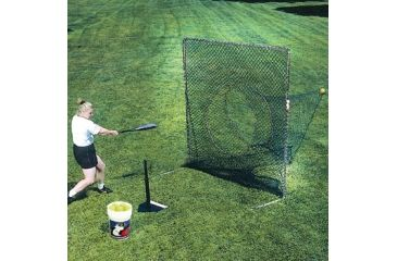 Jugs Sports 7-foot Quick-Snap Square Screen with Socknet S2010