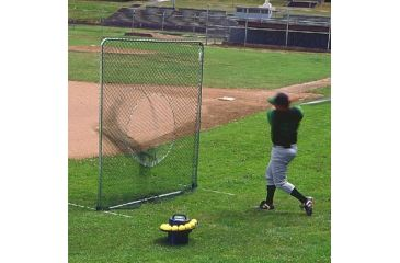 Jugs Sports 7-foot Quick-Snap Square Baseball Screen with Sock Net S2010