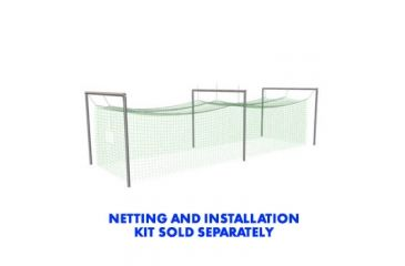 Jugs Sports Batting Cage Frame No. 4 - 39x18 x 14ft high - for No. 119, 191, 381 Netting FRM405