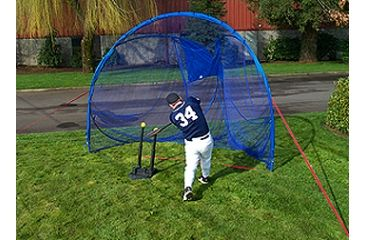 JUGS 5-Point Softball Batting Practive Package - Batting Tee, Instant Screen, 2 Dozen Sting-Free Softballs